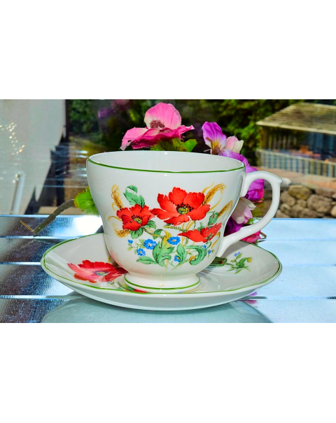 ROYAL VALE POPPY CUP & SAUCER